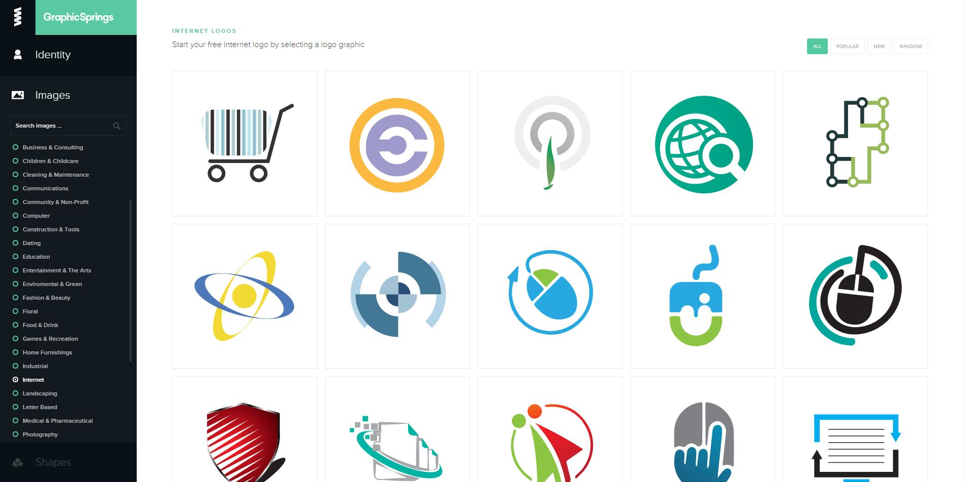Thiet ke logo online free bang Graphicsprings