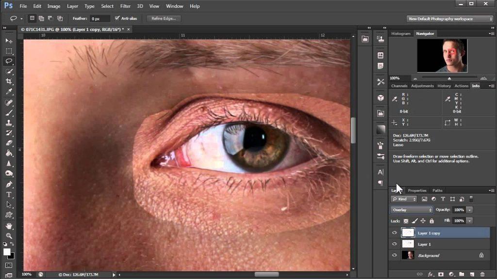 Sharpness và chi tiết trong học photoshop cơ bản