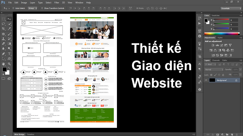 thiết kế giao diện web bằng photoshop
