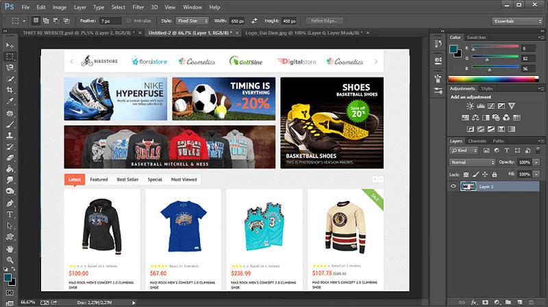 thiết kế giao diện web bằng photoshop5