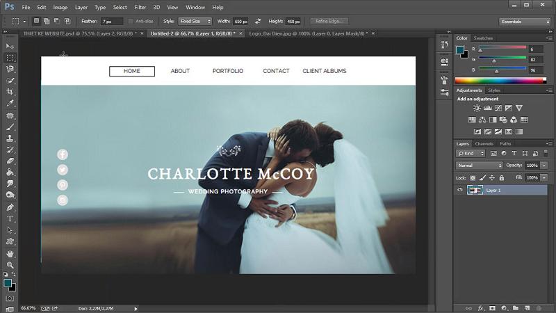thiết kế giao diện web bằng photoshop2