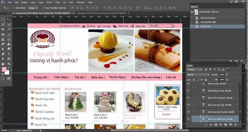 thiết kế giao diện web bằng photoshop4